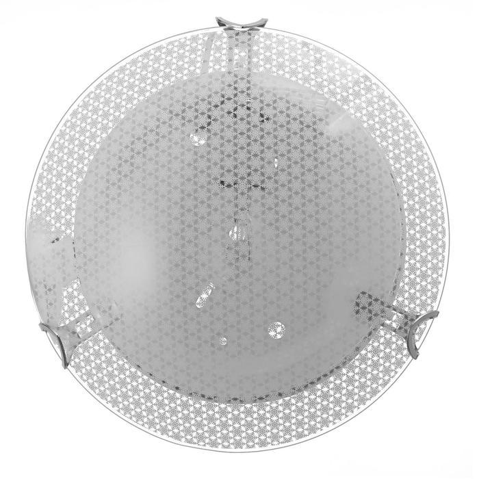 "Светильник ""Снежинка"" моллир. 1х60Вт Е27, хром, d=25 см,  h=4,5 см - фото 7932185"