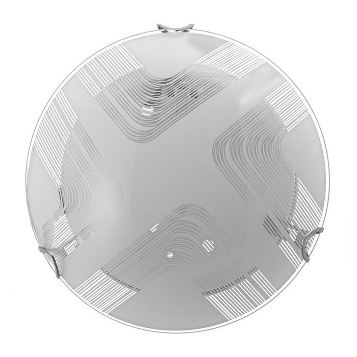 "Светильник ""Сонет"" моллир. 1х60Вт Е27, хром, d=25 см,  h=4,5 см - фото 7932188"