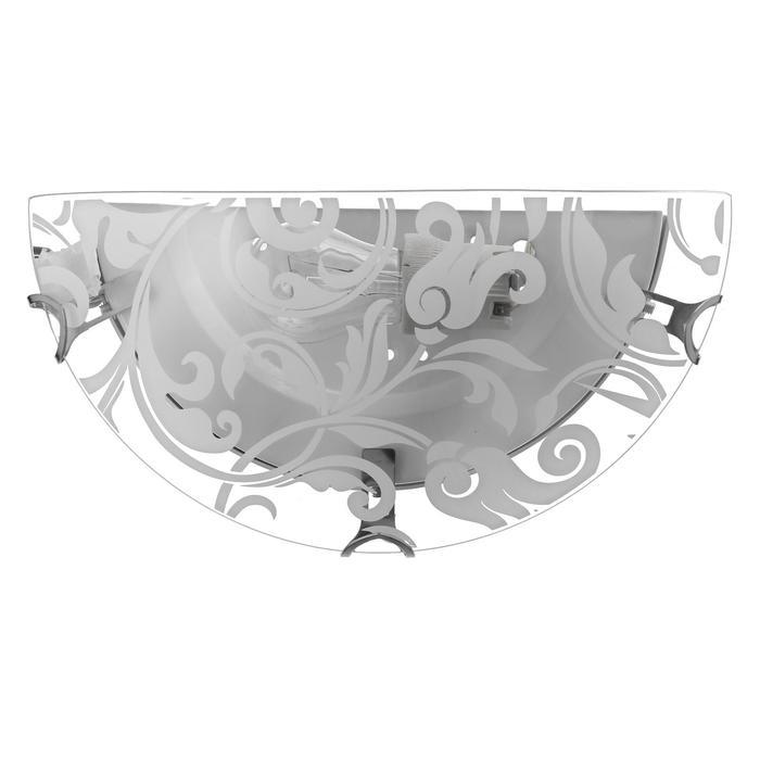 """Светильник """"Барокко"""" моллир., 1х60Вт Е27, хром, d=30 см,  h=5,5 см - фото 7932223"""
