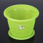 """Горшок для орхидеи с поддоном d=19 см """"Элегант"""", цвет прозрачно-зеленый"""