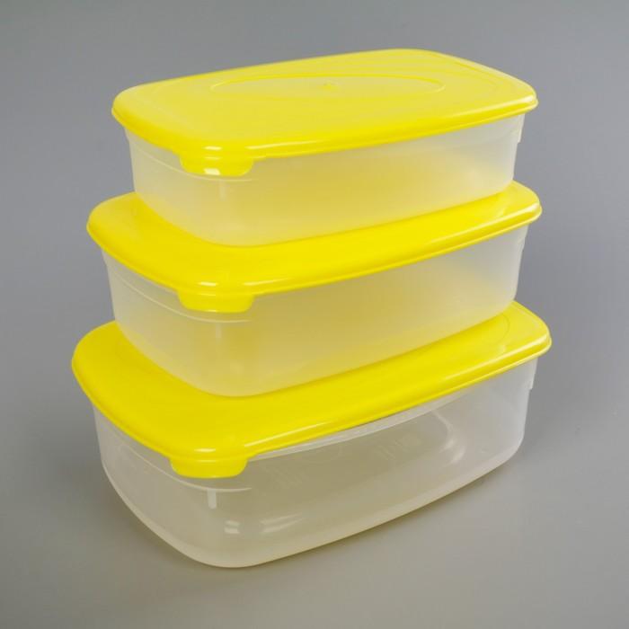 Набор пищевых контейнеров Galaxy, 3 шт: 750 мл; 1,2 л; 1,6 л, цвет МИКС