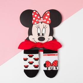 """Набор """"Minnie"""", Минни Маус, повязка, носки 2 пары р.12-14 см"""