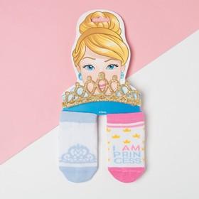 """Набор """"Princess"""" Принцессы, повязка, носки 2 пары р.8-10 см"""