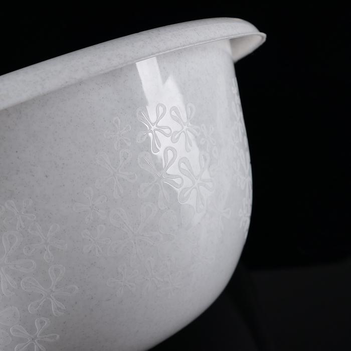 """Таз пластиковый с декором 16 л """"Тюльпан"""", цвет МИКС"""