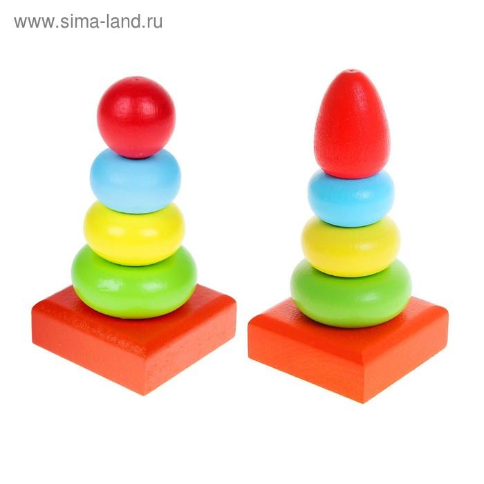 """Пирамидка """"Колечки"""", 4 элемента"""