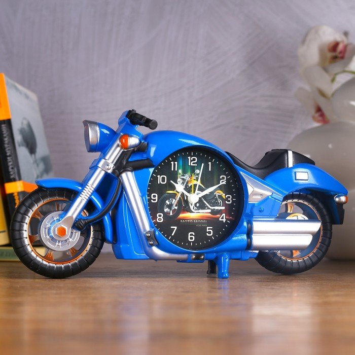 "Будильник ""Мотоцикл"", 27х13 см, микс - фото 797604385"