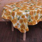 """Скатерть """"Подсолнухи желтые"""", размер 152х152 см, пвх на флизелиновой основе"""