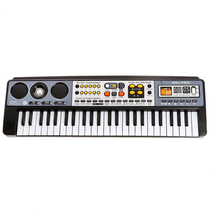 Синтезатор «Музыкальный взрыв», 49 клавиш, работает от батареек