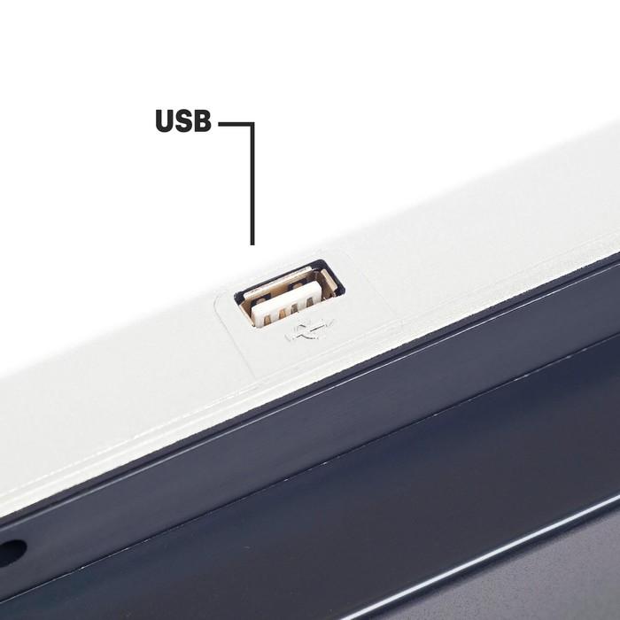Синтезатор «Музыкальный взрыв» c радио и USB, 49 клавиш, работает от сети и от батареек, блок питания в комплектацию НЕ ВХОДИТ