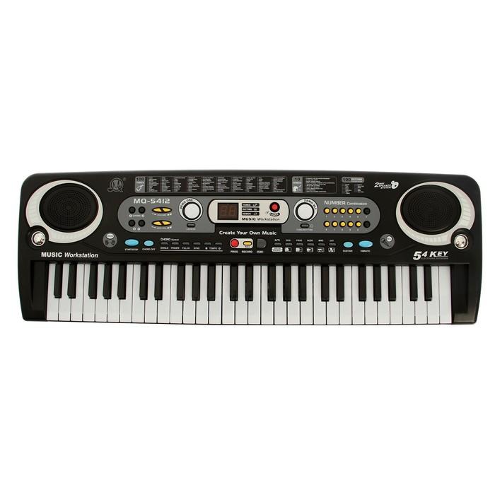 Синтезатор «Музыкальный взрыв», работает от сети и от батареек, 54 клавиши