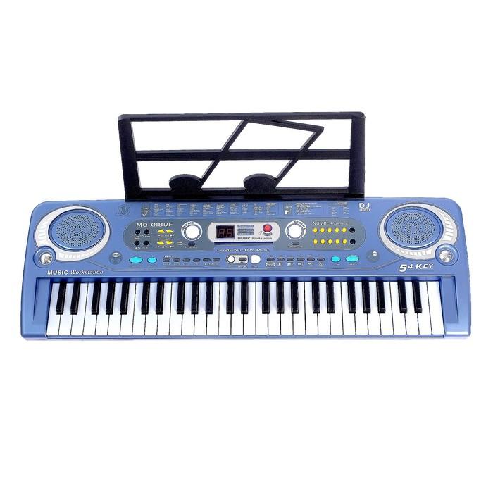 Синтезатор «Музыкальный взрыв», 54 клавиши с цифровым дисплеем, работает от сети и от батареек