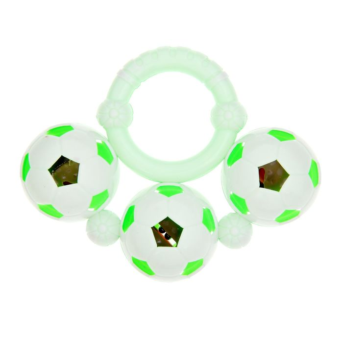 Погремушка «Три шара», цвета МИКС