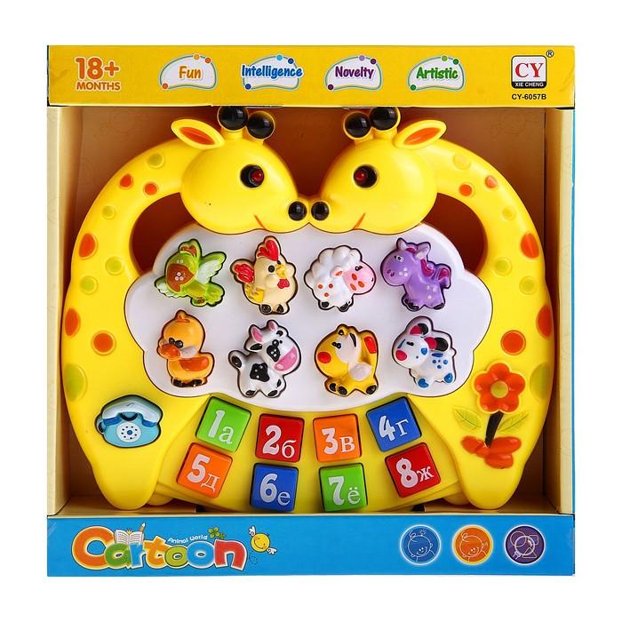 Музыкальная игрушка-ионика «Жирафики», звуковые эффекты, работает от батареек
