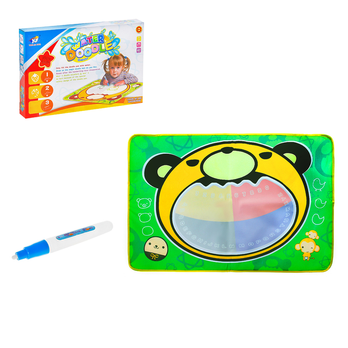 """Коврик для рисования водой, """"Медвежонок"""", с маркером"""