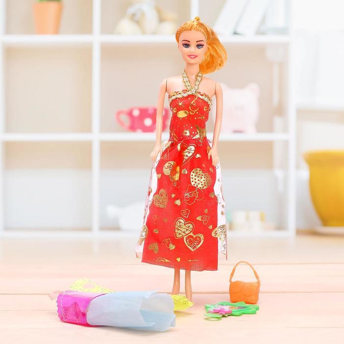 """Кукла модель """"Анюта"""" с одеждой и аксессуарами, МИКС"""