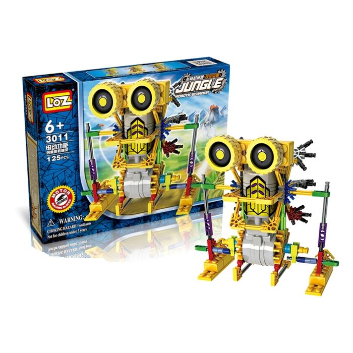Конструктор-робот «Насекомое», работает от батареек, 125 деталей