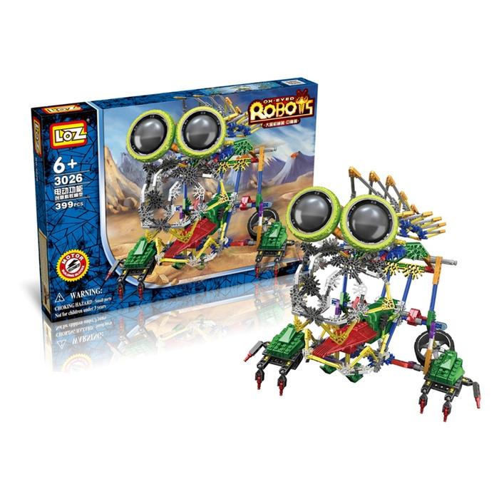 Конструктор-робот «Грызун», работает от батареек, 399 деталей - фото 687096936