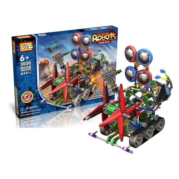 Конструктор-робот 2 в 1 «Кибер жук», работает от батареек, 634 детали