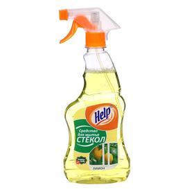 Средство для мытья стекол Help 'Лимон' без распылителя, 0,5 л Ош