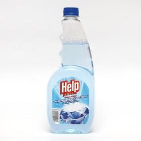 """Средство для мытья стёкол и зеркал Help """"Свежий озон"""" без распылителя, 0,75 л"""