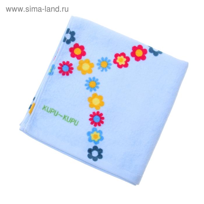 "Полотенце махровое Купу-Купу ""Конфетти"", размер 45х90 см, 420 гр/м2, цвет голубой"