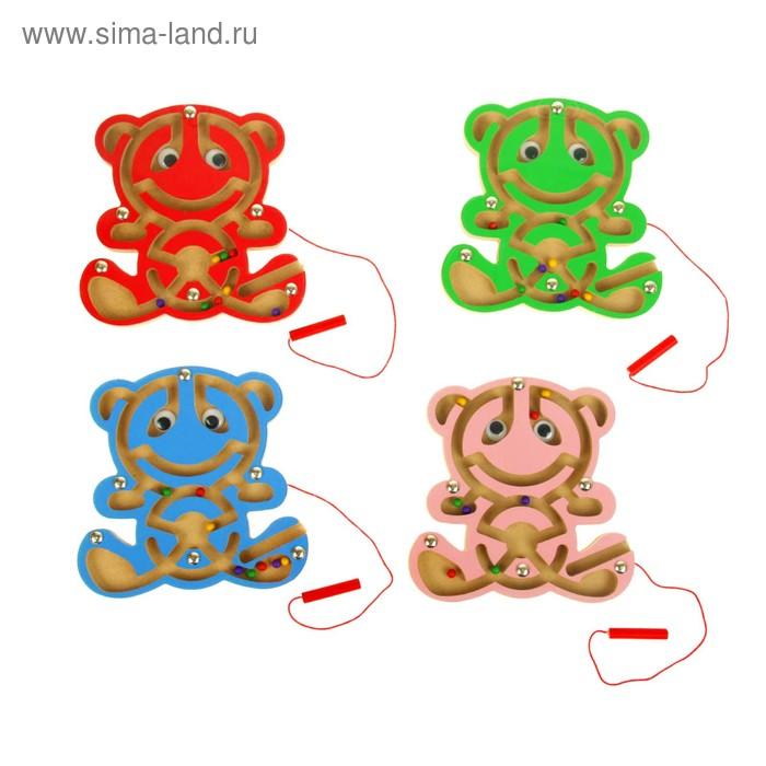 """Лабиринт магнитный """"Медвежонок"""", цвета МИКС"""