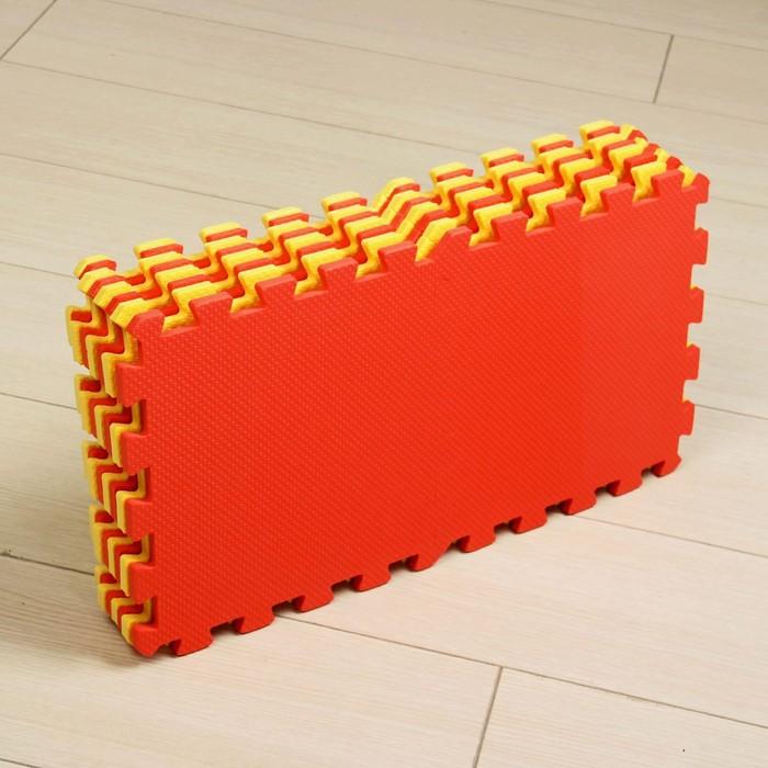 Мягкий пол универсальный, жёлто-красный
