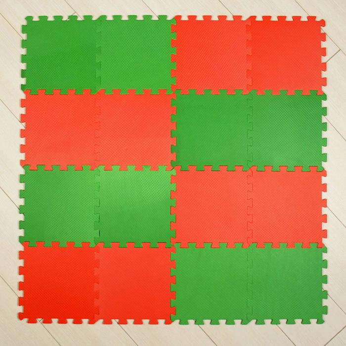 Мягкий пол универсальный, красно-зелёный - фото 687102145