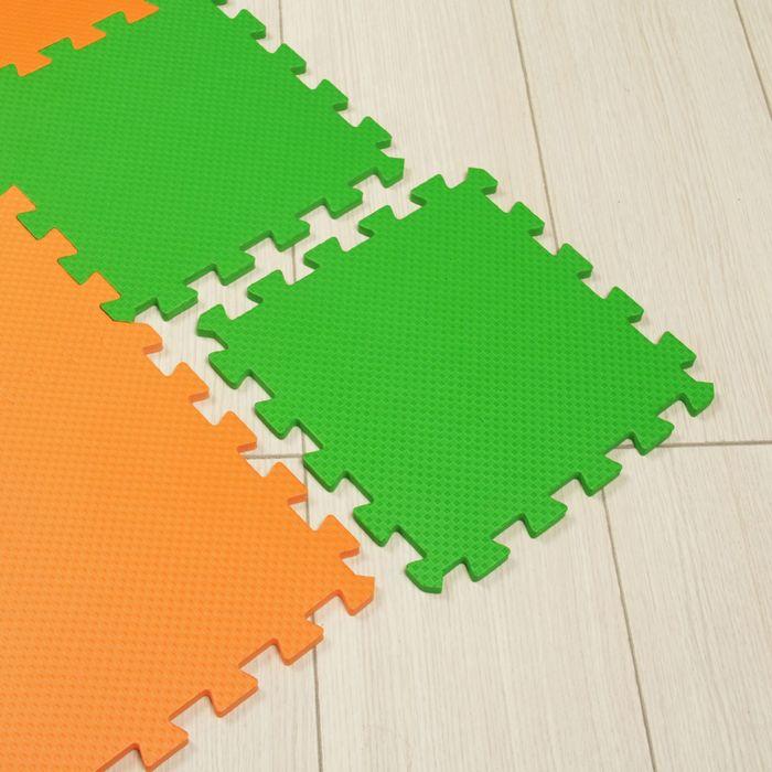 Мягкий пол универсальный, оранжево-зелёный