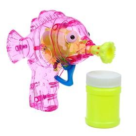 Мыльные пузыри «Рыбка-пистолет» со светом, 50 мл, цвета МИКС