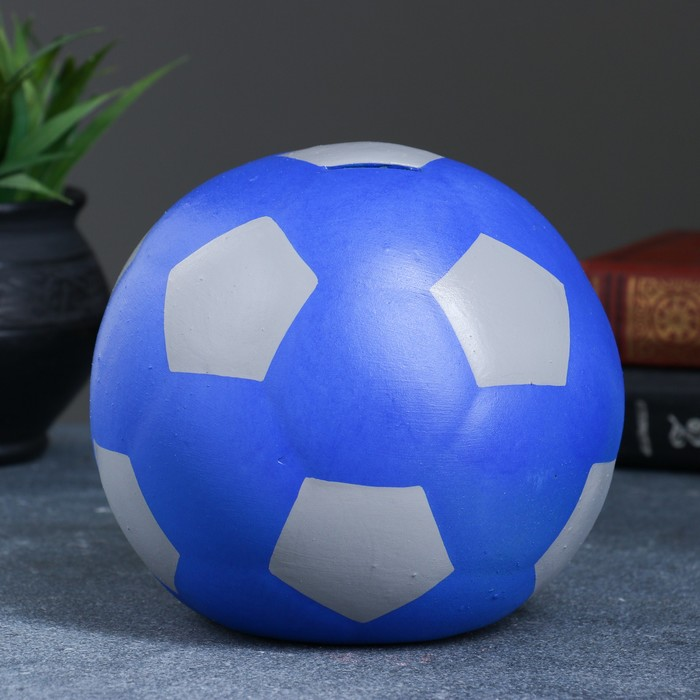 """Копилка """"Мяч"""" синяя, микс"""