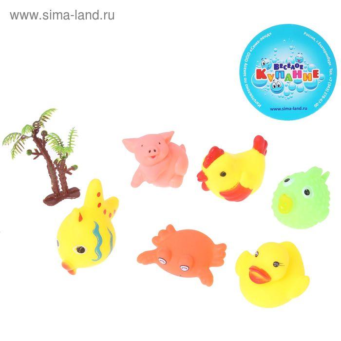 Набор резиновых игрушек с пищалками, 6 шт.