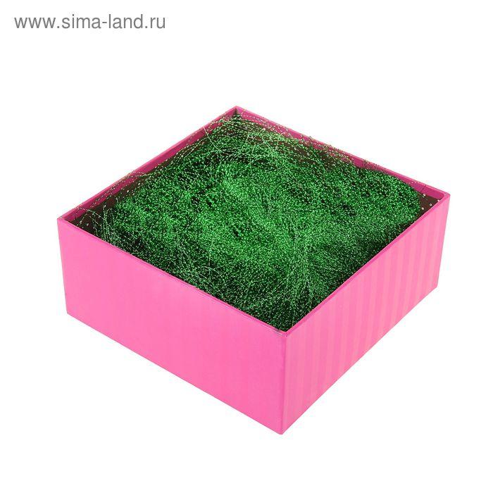 Наполнитель декоративный гофрированный 10гр, цвет зеленый
