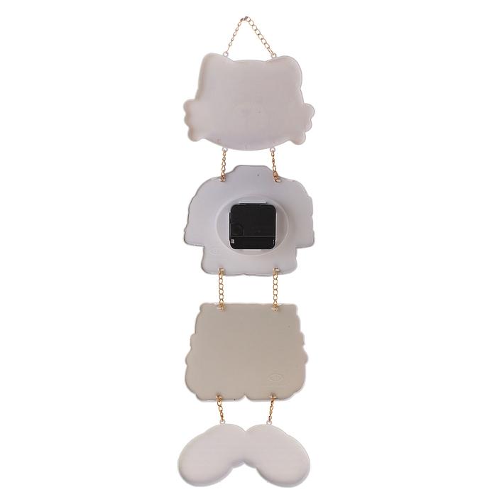 """Часы настенные детские """"Мишка с башмачками"""", 17х50 см, фоторамка d=9.5 см"""