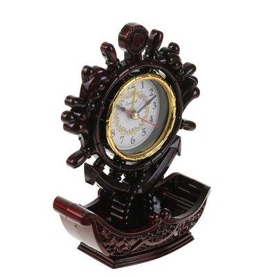 """Часы-будильник """"Баркентина"""", настольные, 17х13 см, микс"""