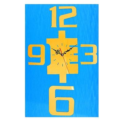 """Часы-наклейка, серия: Интерьер, """"Углы"""", золотые, 60х44 см"""