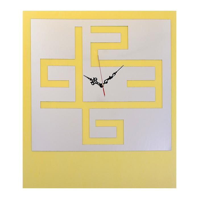 Часы-наклейка DIY, цифры в квадрате, многоразового использ-я, хром