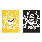 Часы-наклейка DIY, цифры витые, многоразового использования, хром, микс