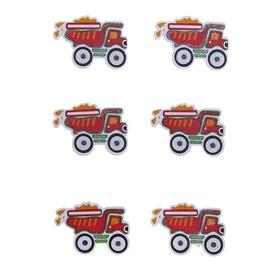 Наклейки детские декор «Пожарная машина», набор 6 штук