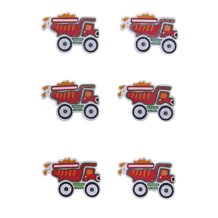"""Наклейки детские декор """"Пожарная машина"""", набор 6 штук"""