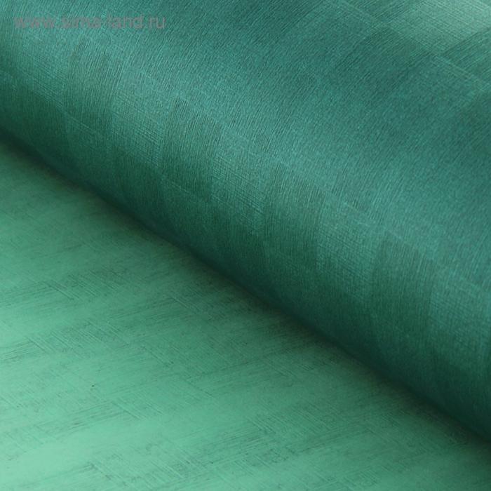 """Бумага упаковочная фактурная """"Клетка"""", цвет зелёный"""