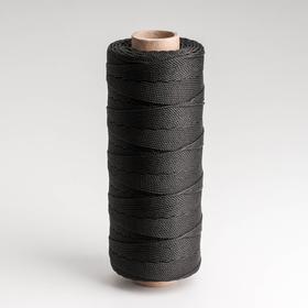 Шнур кручёный ПП, d=1,5 мм, 250 м, цвет чёрный