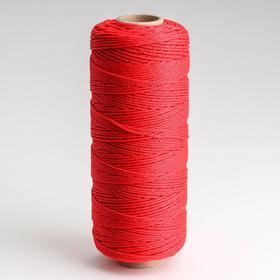 Шнур кручёный полипропилен, d=1,5 мм, длина 250 м, цвет красный