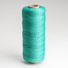 Шнур кручёный полипропилен, d=1,5 мм, длина 250 м, цвет зелёный