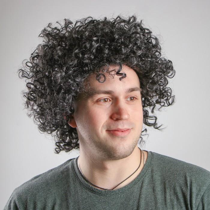 """Карнавальный парик """"Объём"""", обхват головы 56-58, 120 г, цвет чёрный"""