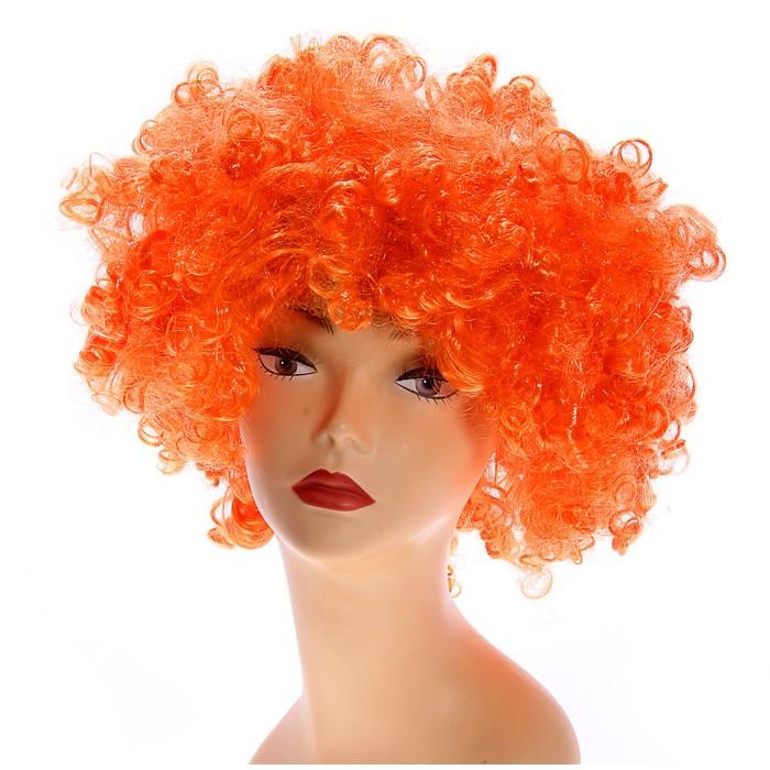 """Карнавальный парик """"Объём"""", цвет оранжевый, 120 г"""