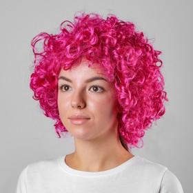 "Carnival wig ""Volume"", color raspberry, 120 g"