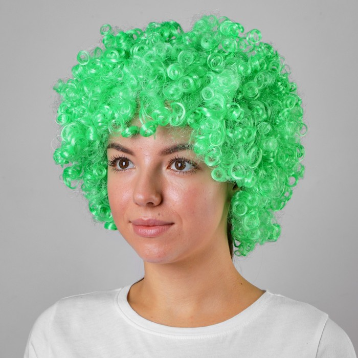 Карнавальный парик объемный, салатовый