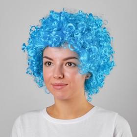 """Carnival wig """"Volume"""", blue color, 120 g"""