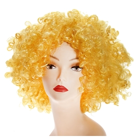 Карнавальный парик «Объём», цвет жёлтый, 120 г